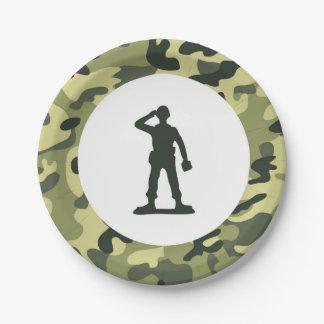Prato De Papel Placa de sobremesa do papel do exército do soldado