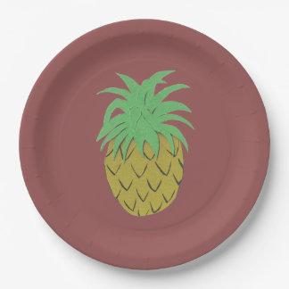 Prato De Papel Placa do abacaxi