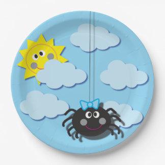 Prato De Papel Placa do partido da aranha de Itsy Bitsy