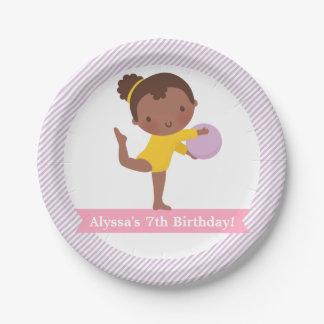 Prato De Papel Placa do partido da menina e de aniversário de