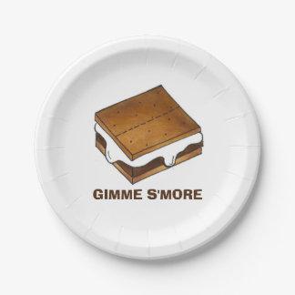 Prato De Papel Placa do piquenique do acampamento de Gimme Smore
