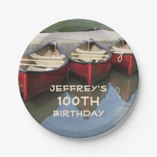 Prato De Papel Placa personalizada 100th festa de aniversário das