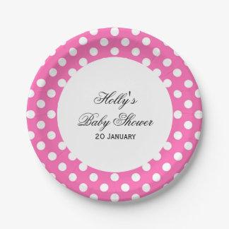 Prato De Papel Placas cor-de-rosa do chá de fraldas do ponto,