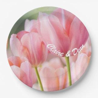 Prato De Papel Placas cor-de-rosa personalizadas do partido do