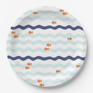 Prato De Papel Placas da festa de aniversário do peixe dourado