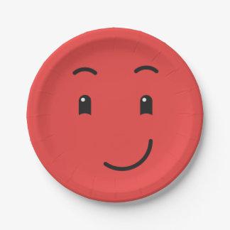 Prato De Papel Placas de papel 1/9 do smiley bonito