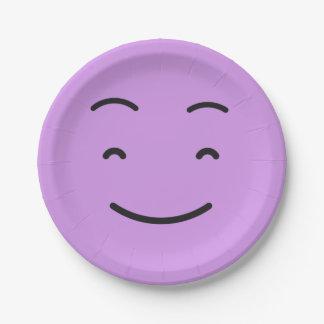 Prato De Papel Placas de papel 4/9 do smiley bonito