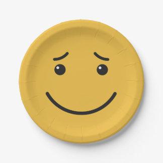 Prato De Papel Placas de papel 6/9 do smiley bonito