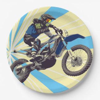 Prato De Papel Placas de papel 9 do cavaleiro de Motorcross