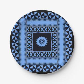 Prato De Papel Placas de papel azuis de Fiji