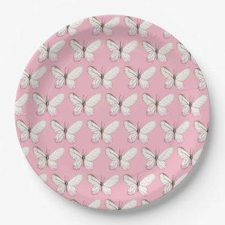 Prato De Papel Placas de papel cor-de-rosa elegantes de teste