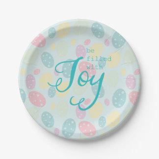 Prato De Papel Placas de papel da alegria da páscoa