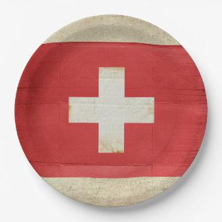 Prato De Papel Placas de papel da bandeira da suiça