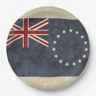 Prato De Papel Placas de papel da bandeira das Ilhas Cook
