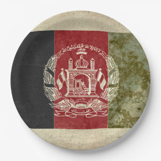 Prato De Papel Placas de papel da bandeira de Afeganistão