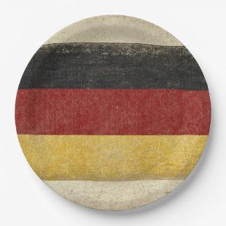 Prato De Papel Placas de papel da bandeira de Alemanha