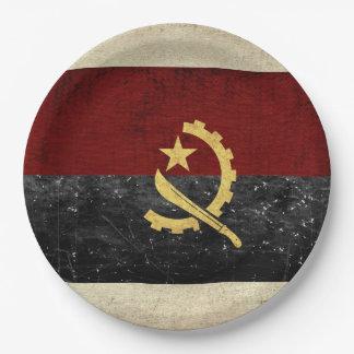 Prato De Papel Placas de papel da bandeira de Angola