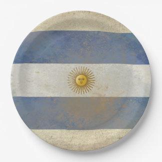 Prato De Papel Placas de papel da bandeira de Argentina