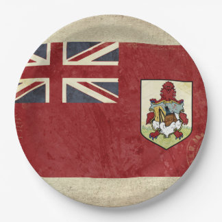 Prato De Papel Placas de papel da bandeira de Bermuda
