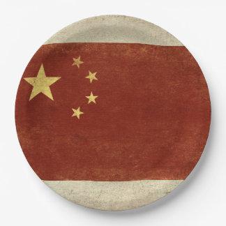 Prato De Papel Placas de papel da bandeira de China