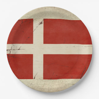 Prato De Papel Placas de papel da bandeira de Dinamarca