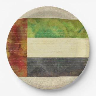 Prato De Papel Placas de papel da bandeira de Dubai UAE