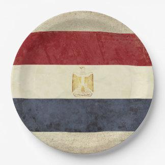 Prato De Papel Placas de papel da bandeira de Egipto