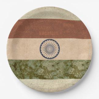 Prato De Papel Placas de papel da bandeira de India