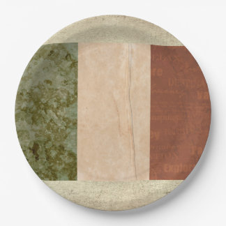 Prato De Papel Placas de papel da bandeira de Ireland