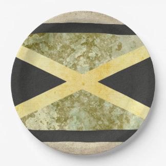 Prato De Papel Placas de papel da bandeira de Jamaica