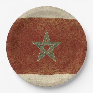 Prato De Papel Placas de papel da bandeira de Marrocos