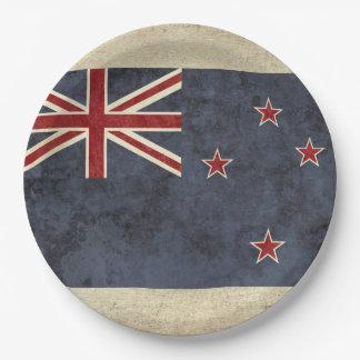 Prato De Papel Placas de papel da bandeira de Nova Zelândia