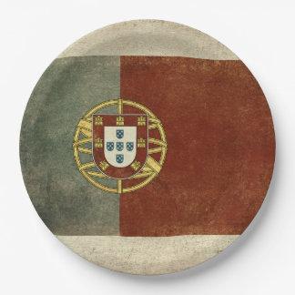 Prato De Papel Placas de papel da bandeira de Portugal