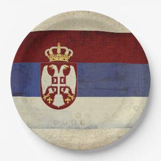 Prato De Papel Placas de papel da bandeira de Serbia
