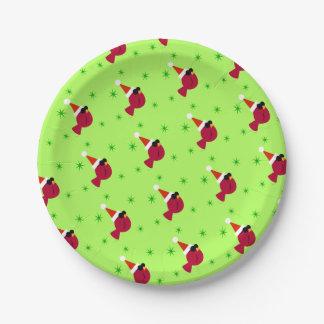 Prato De Papel Placas de papel da festa de Natal engraçada