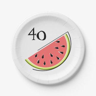 Prato De Papel Placas de papel da idade da fatia 40 da melancia