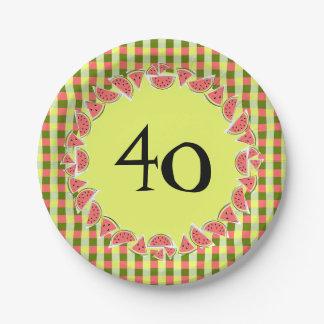 Prato De Papel Placas de papel da idade da verificação 40 da