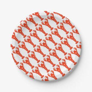 Prato De Papel Placas de papel da lagosta