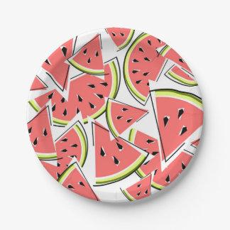 Prato De Papel Placas de papel da melancia