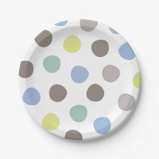 Prato De Papel Placas de papel das bolinhas dos Pastels do