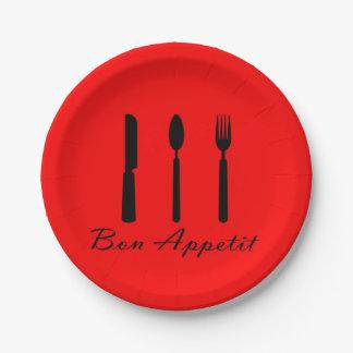 Prato De Papel Placas de papel de Appetit do Bon do café