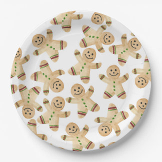 Prato De Papel Placas de papel de comensal de Natal do homem de