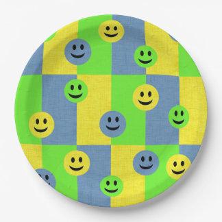 Prato De Papel Placas de papel de Emoji dos smileys face felizes
