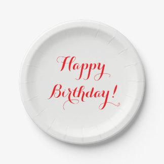 Prato De Papel Placas de papel de feliz aniversario