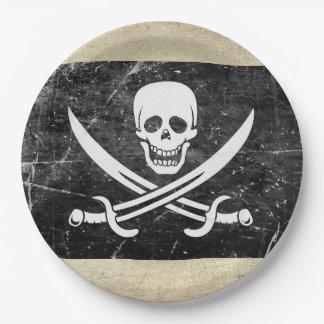 Prato De Papel Placas de papel de Neverland da bandeira de pirata