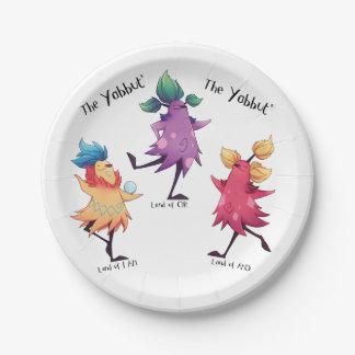 Prato De Papel Placas de papel de Yabbuts da dança