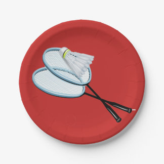 Prato De Papel Placas de papel do Badminton