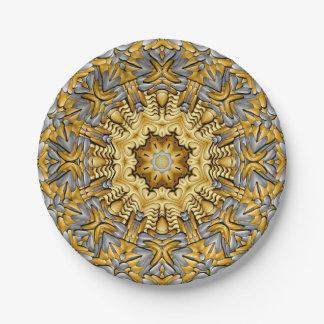Prato De Papel Placas de papel do caleidoscópio do metal precioso