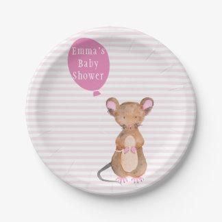 Prato De Papel Placas de papel do chá de fraldas bonito do rato |