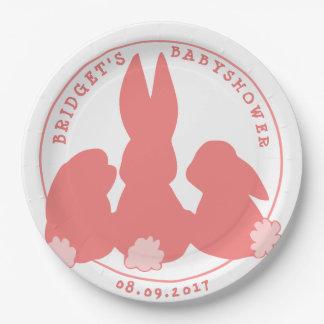 Prato De Papel Placas de papel do chá de fraldas cor-de-rosa